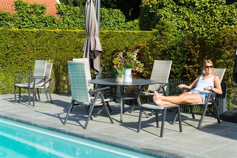 Stolica Niza i sto Provence HPL 140 cm sa aluminijumskim nogama