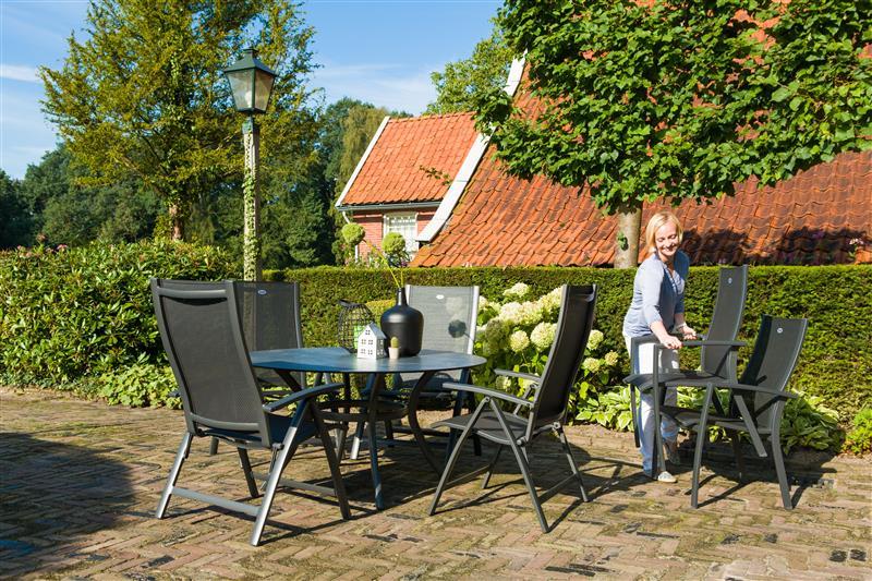 Stolice Belcampo i sto Provence HPL 140 cm