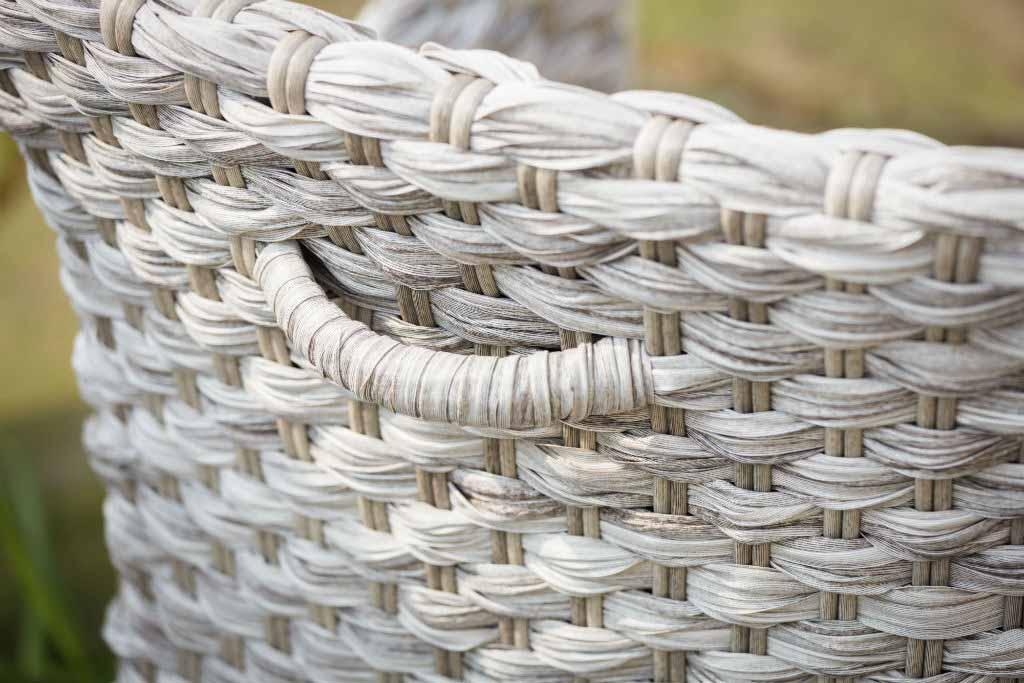 Pletena stolica Java - detalj
