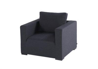 Baštenska fotelja Oliver crna