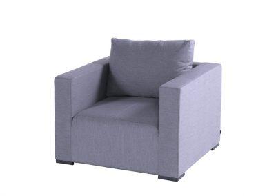 Baštenska fotelja Oliver siva (1)