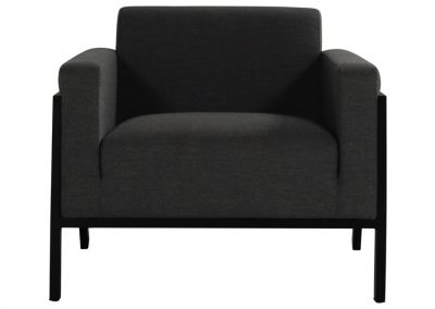 Baštenska fotelja Frank crna